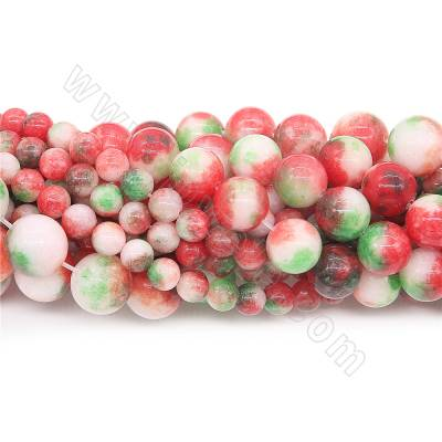 Dyed Pink Green Stone Beads...