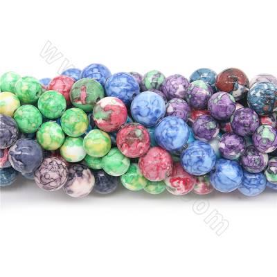 Dyed fossil jasper beads...