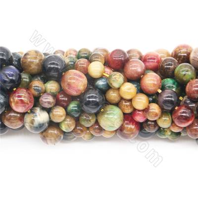 Dyed colorful tiger's eye...