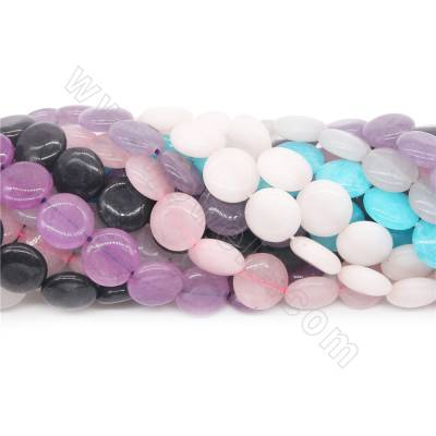 Dyed  jade beads strand...