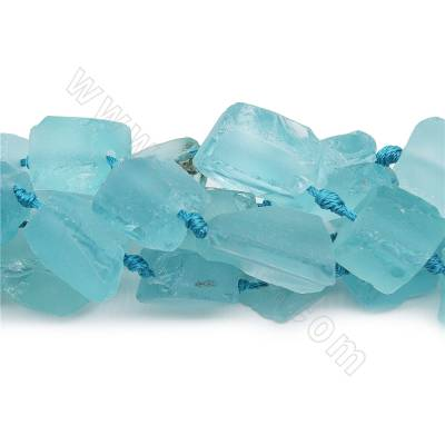 Dyed blue quartz beads...