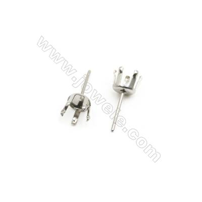 304 Stainless Steel Ear Stud Component  Size 15x6.5mm Pin 0.8mm  Tray 5mm  300pcs/pack