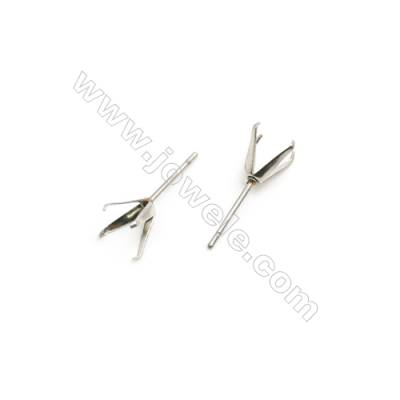 304 Stainless Steel Ear Stud Component  Size 18x6mm Pin 0.8mm  300pcs/pack