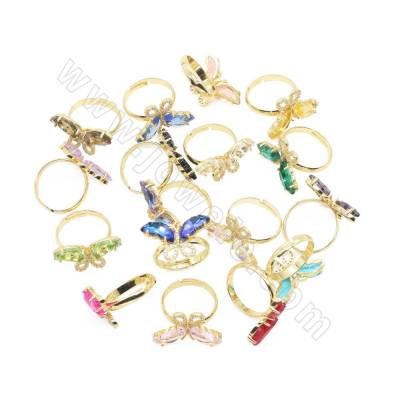 Glass Finger Rings With...
