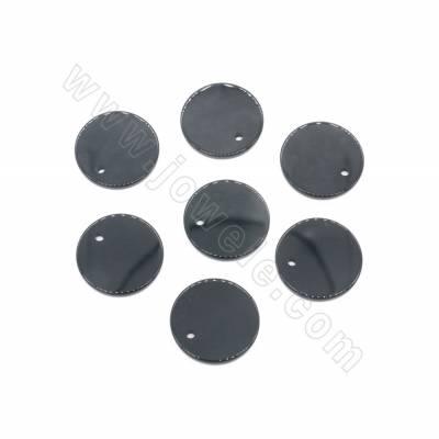 Natural Black Agate Pendant...