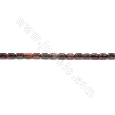 Red Tiger's Eye Barrel Bead...