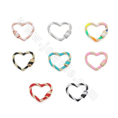 Brass Charms Heart Size...