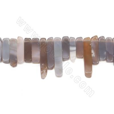 Natural Gray Agate Beads...