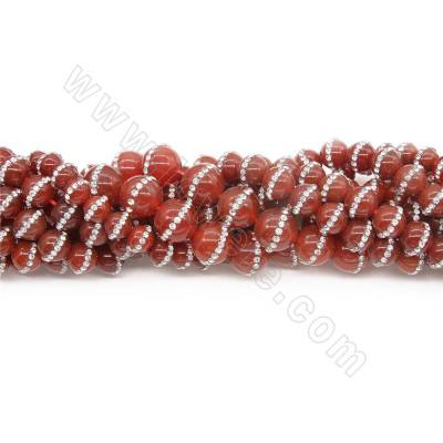 Natural Red Agate Beads...