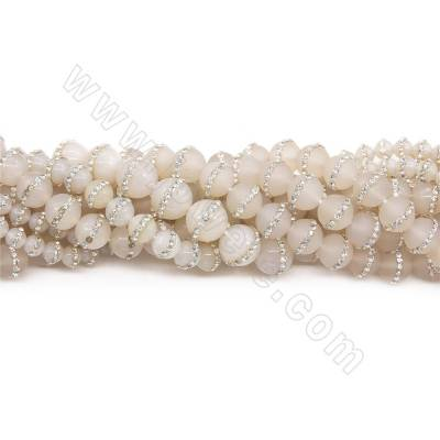Natural Grey Agate Beads...