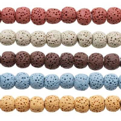 Natural Stone Lava Beads...