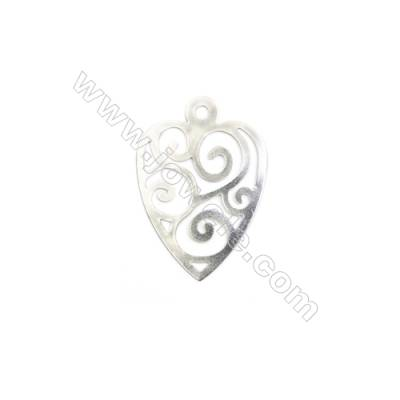 304 Stainless Steel Charm  Heart  Size 20x28mm  Hole 1.5mm  150 pcs/pack