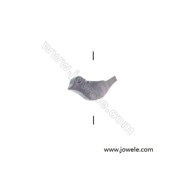 Gray mother-of-pearl shell Bird-shaped beaded, 6x15mm, hole 0.7mm, 20 beads/strand