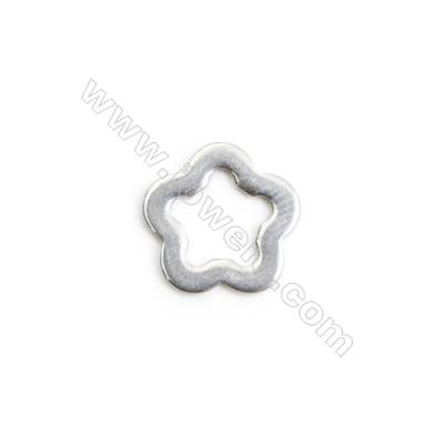 304 Stainless Steel Charm  Hollow Flower  Size 11x11mm  300 pcs/pack