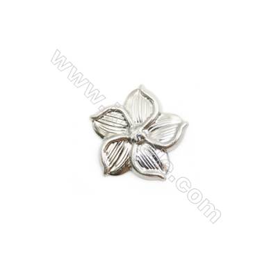 304 Stainless Steel Charm  Flower  Size 16x16mm  150 pcs/pack