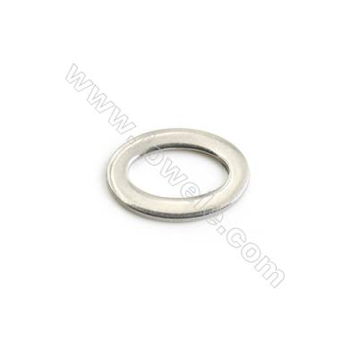 304 Stainless Steel Linking Ring  Size 10x15x1.2mm  200 pcs/pack
