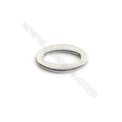304 Stainless Steel Linking Ring  Size 15x8x2mm  200 pcs/pack