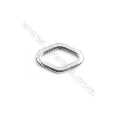304 Stainless Steel Linking Ring  Rhombus  Size 19x12x2.4mm  140 pcs/pack