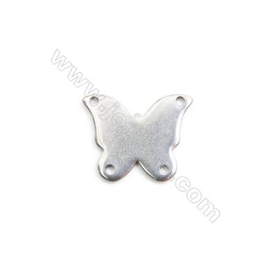 304 Stainless Steel Charm  Butterfly  Size 12.5x15mm  Hole 1mm  85 pcs/pack