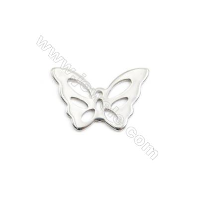 304 Stainless Steel Charm  Butterfly  Size 15x22mm  50 pcs/pack
