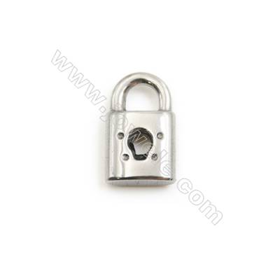 304 Stainless Steel Charm  Lock  Size 10x16mm  50 pcs/pack