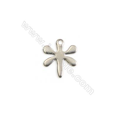 304 Stainless Steel Charm  Dragonfly  Size 10x12mm  Hole 1mm  300 pcs/pack
