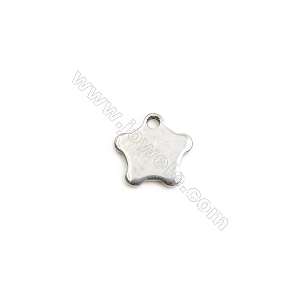 304 Stainless Steel Charm  Star  Size 7x7mm  Hole 1mm  300 pcs/pack