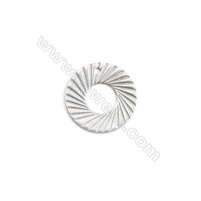 304 Stainless Steel Charm  Circle  Diameter 15mm  Hole 1mm  200 pcs/pack