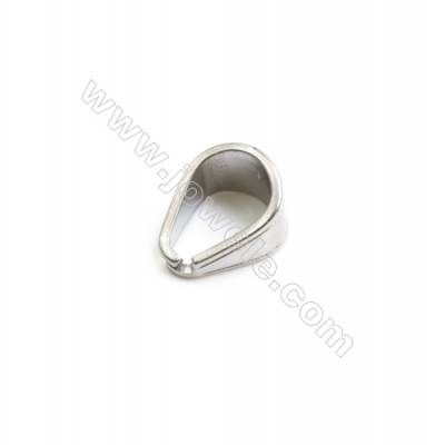 304 Stainless Steel Pinch Bail  Size 11x7mm  150pcs/pack
