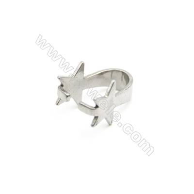 304 Stainless Steel Pinch Bail  Size 16x11mm  150pcs/pack