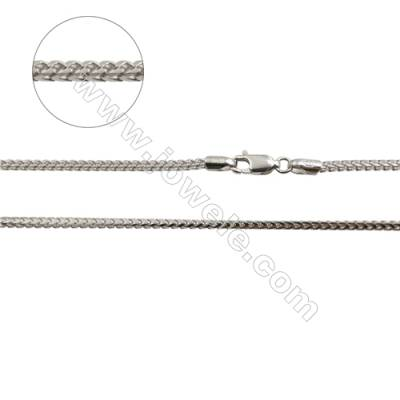 "925 Sterling Silver Chain x 1Piece   Size 1.8x2.8mm  Length: 16""(white gold plating)"