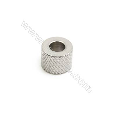 304 Stainless Steel Large Hole Beads, Column, Size 9x12mm, Hole 5.6mm, 50 pcs/pack