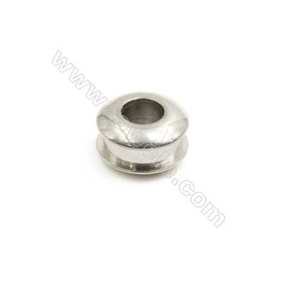 304 Stainless Steel Large Hole Beads, Column, Size 7x12mm, Hole 5.2mm, 90 pcs/pack