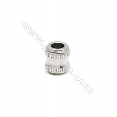 304 Stainless Steel Large Hole Beads, Column, Size 12x13mm, Hole 5.8mm, 50 pcs/pack