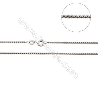 "925 Sterling Silver Porpcorn Chain x 1Piece   Length: 16""  thick 1.6mm(white gold plating)"