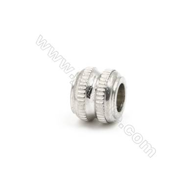 304 Stainless Steel Large Hole Beads, Column, Size 10x12mm, Hole 6mm, 85 pcs/pack