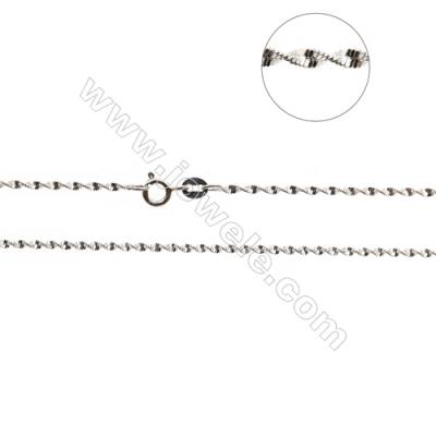 "925 Sterling Silver Singapore Chain x 1Piece   Thick 1.8mm  Length: 16""(white gold plating)"