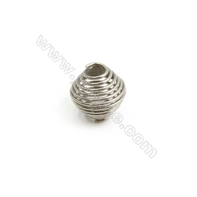 304 Stainless Steel Large Hole Beads, Size 10x11mm, Hole 3.3mm, 100 pcs/pack