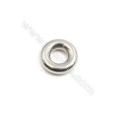 304 Stainless Steel Large Hole Spacer Beads, Round, Diameter 12mm, Thick 4mm, Hole 5mm, 45 pcs/pack