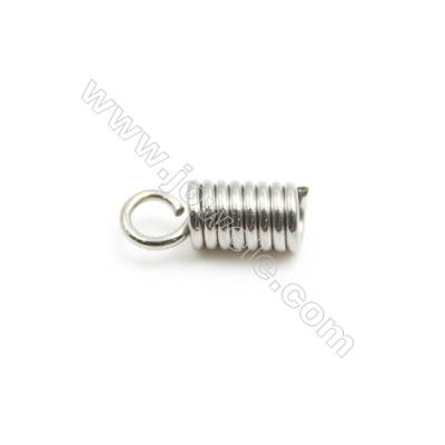 304 Stainless Steel Terminators  Cord Coil  Size 8.5x3.7mm  Inner Diameter 1.7mm  Hole: 2mm 1000pcs/pack