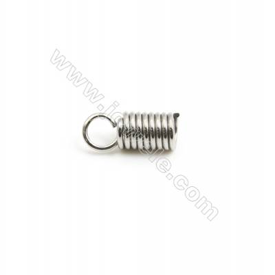 304 Stainless Steel Terminators  Cord Coil  Size 11x5.5mm  Inner Diameter 3mm  Hole: 2.8mm 850pcs/pack