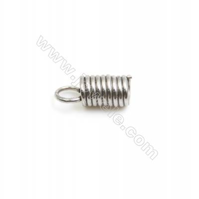 304 Stainless Steel Terminators  Cord Coil Size 10.6x4.6mm  Inner Diameter 3mm  Hole: 3mm 850pcs/pack