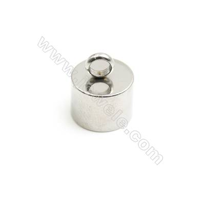 304 Stainless Steel Cord Ends   Size 11x13mm  Inner Diameter 9.7mm  Hole 3.4mm  100pcs/pack