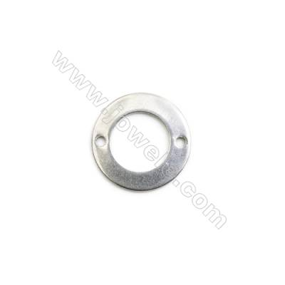 304 Stainless Steel Links, Round, Diameter 13mm, Hole 1mm, 150 pcs/pack