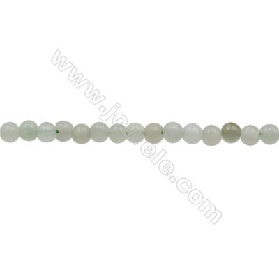 3mm Natural Myanmar Jade Beads Strand  Round  hole 0.7mm  about 130 beads/strand  15~16""