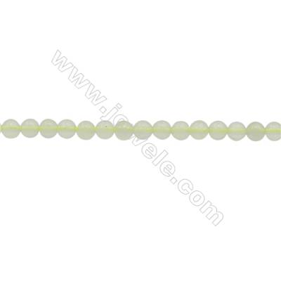 """3mm Natural New Jade Beads Strand  Round  hole 0.7mm  about 130 beads/strand  15~16"""""""