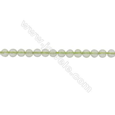 3mm Natural Prehnite Beads Strand  Round  hole 0.7mm  about 133 beads/strand  15~16""