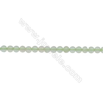 3mm Natural Fluorite Beads Strand  Round  hole 0.7mm  about 129 beads/strand  15~16""