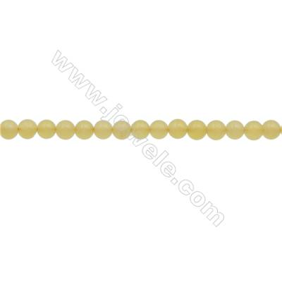 3mm Natural Lemon Jade Beads Strand  Round  hole 0.7mm  about 131 beads/strand  15~16""
