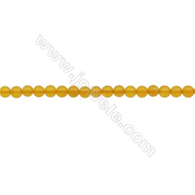 3mm Yellow Agate Beads Strand  Round  hole 0.7mm  about 129 beads/strand  15~16""